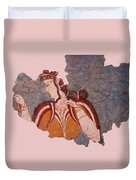 Minoan Wall Painting Duvet Cover