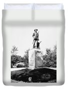 Minuteman Statue Duvet Cover