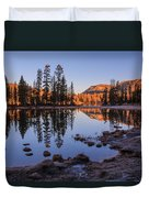 Mirror Lake Dawn Duvet Cover