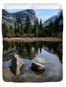 Mirror Lake Threesome 3 Yosemite Duvet Cover