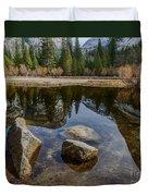 Mirror Lake Threesome Yosemite Duvet Cover