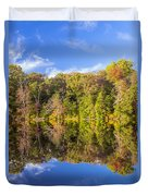 Mirror Reflections Of Fall Duvet Cover