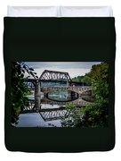 Mirrored Bridges Duvet Cover