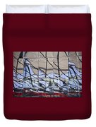 Mirroring On Vitreous Wall Duvet Cover