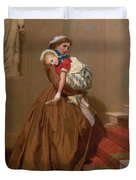 Miss Lilys Return From The Ball, 1866 Duvet Cover