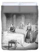 Miss Nightingale In The Hospital Duvet Cover