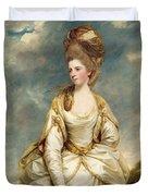 Miss Sarah Campbell Duvet Cover by Sir Joshua Reynolds