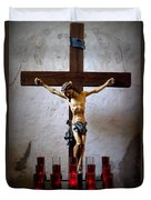 Mission Concepcion - Crucifixion Duvet Cover