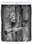 Mission Espada - Wooden Cross - Bw Duvet Cover