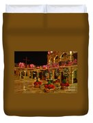 Mission Inn Christmas Chapel Courtyard Duvet Cover