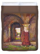 Mission Of San Juan Capistrano By Rowena Meeks Abdy 1887-1945  Duvet Cover