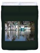 Mississippi Boats Duvet Cover by Carol Groenen