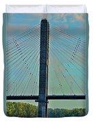 Mississippi River Bridge At Cape Girardeau Mo  Duvet Cover
