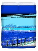 Mississippi River Bridge Poster Duvet Cover