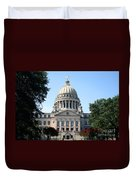 Mississippi State Capitol Downtown Jackson Duvet Cover