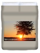Mississippi Sunset 1 Duvet Cover