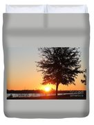 Mississippi Sunset 3 Duvet Cover