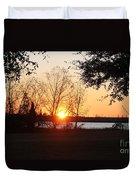 Mississippi Sunset 9 Duvet Cover
