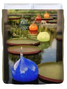 Missouri Botanical Garden Six Glass Spheres And Lilly Pads Img 2464 Duvet Cover