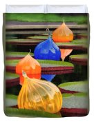 Missouri Botanical Garden Six Glass Spheres And Lilly Pads Img 5490 Duvet Cover