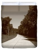 Missouri Route 66 2012 Sepia. Duvet Cover by Frank Romeo