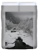 Mist Above The Creek Duvet Cover