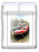 Mist On The Arno Poster Duvet Cover