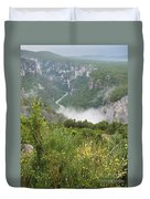 Mist Over Grand Canyon Du Verdon  Duvet Cover