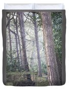 Mist Through The Trees Duvet Cover