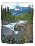 Mistaya Canyon Along Icefield Parkway In Alberta Duvet Cover