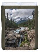 Mistaya River And Canyon Duvet Cover