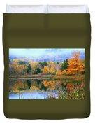 Misty Autumn Pond  Duvet Cover