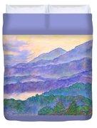 Misty Blue Ridge Duvet Cover