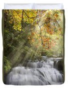 Misty Falls At Coker Creek Duvet Cover