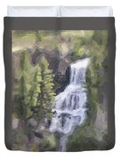 Misty Falls Duvet Cover by Jo-Anne Gazo-McKim