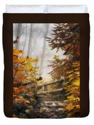 Misty Footbridge Duvet Cover