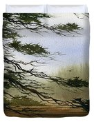 Misty Forest Bay Duvet Cover