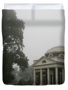 Misty Morning At Monticello Duvet Cover