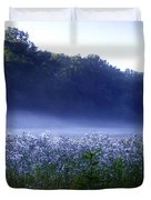 Misty Morning At Vally Forge Duvet Cover