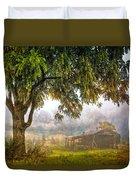 Misty Mountain Barn Duvet Cover