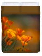 Misty Poppies Duvet Cover
