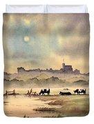 Misty Sunrise - Windsor Meadows Duvet Cover