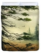 Misty Tideland Forest Duvet Cover by James Williamson