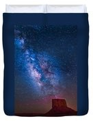 Mitchell Butte Milky Way Duvet Cover