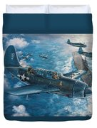 Mitscher's Hunt For The Rising Sun Duvet Cover by Randy Green