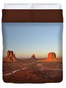 Mittens And Merrick Butte Monument Valley Duvet Cover