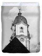 Mittenwald Kirchturm Duvet Cover