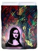 Mixed Media Abstract Post Modern Art By Alfredo Garcia Mona Lisa 2 Duvet Cover