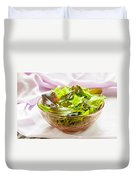 Mixed Salad On Table Duvet Cover