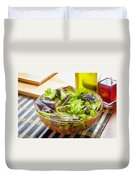 Mixed Salad With Condiments Duvet Cover